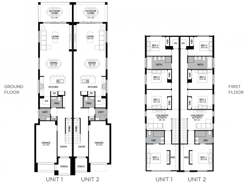 Harrington Duplex Home Design With 8 Bedrooms Mojo Homes