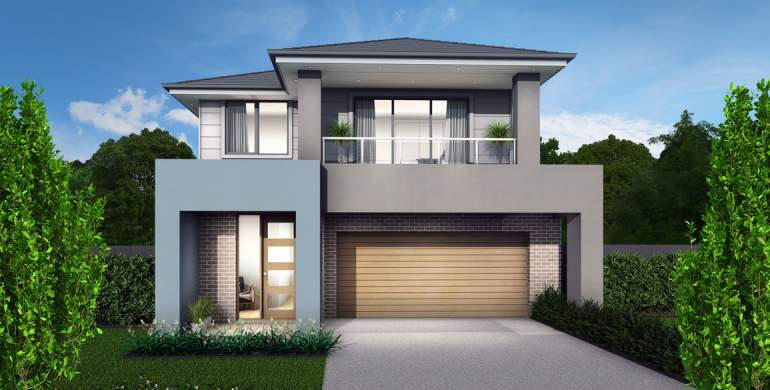 Applause Double Storey House Design-Modern with Balcony Facade