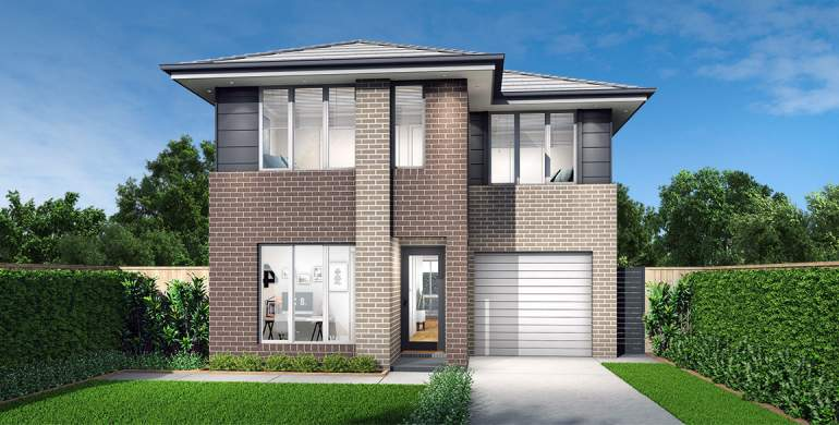 Bondi Double Storey House Design-Newport Facade
