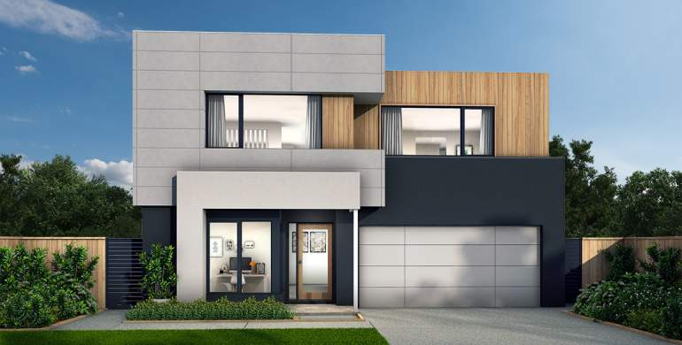 Chevron Double Storey House Design- Lennox Facade