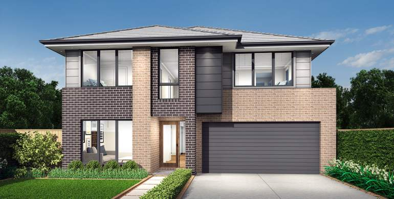 Clovelly Double Storey House Design- Newport Facade