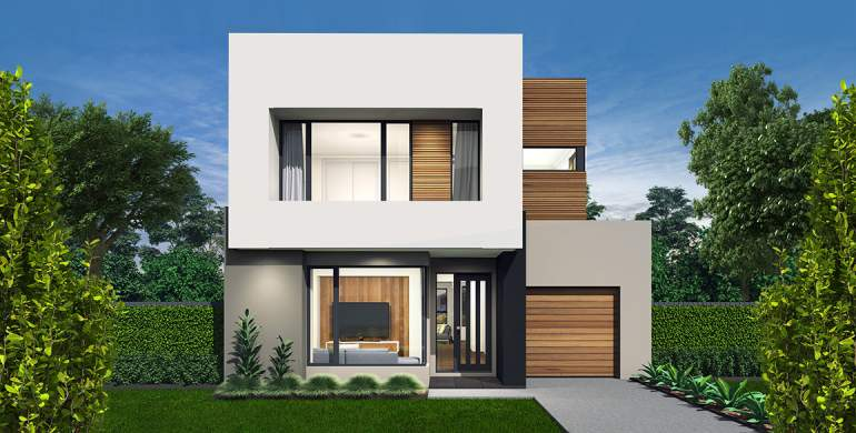 Encore Double Storey House Design-Luxe Facade