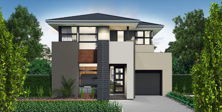 Encore Double Storey House Design-Metro Facade