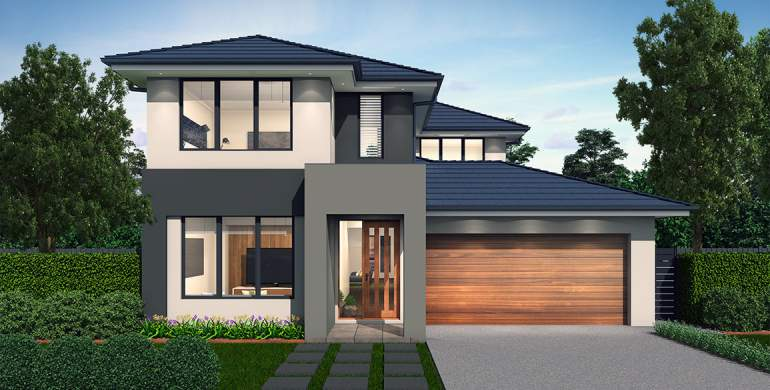 Encore Double Storey House Design-Contempo Facade