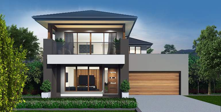Encore Double Storey House Design-Grande Facade