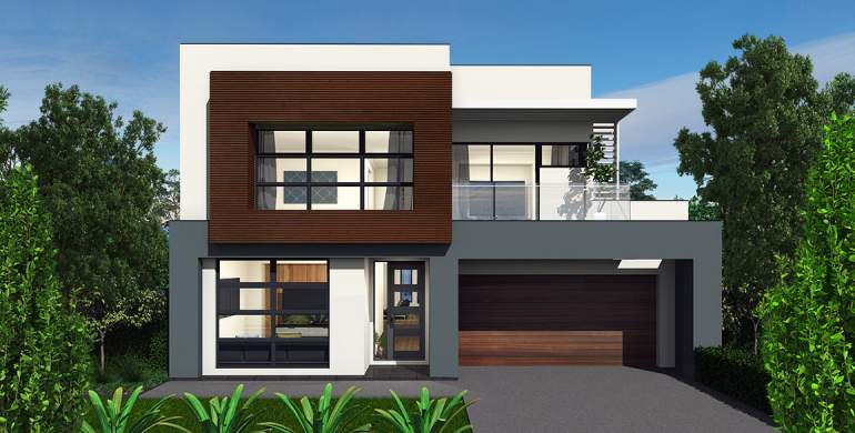 Encore Double Storey House Design-Sheike Facade