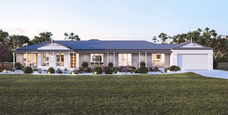 Mansfield 36-Acreage House Design-Retreat facade
