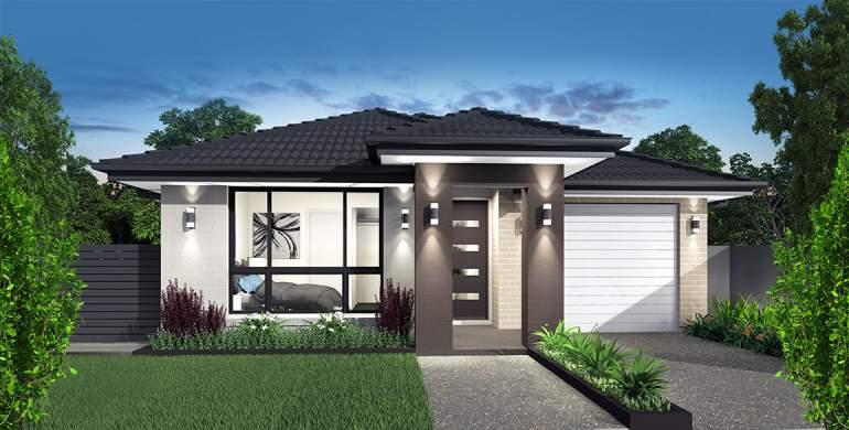 Narrow Lot Home Design-Alto Facade
