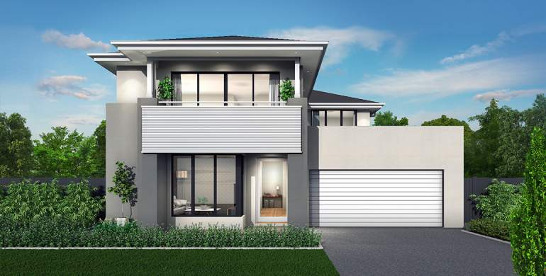 Nova Double Storey House Design- Coastal Facade