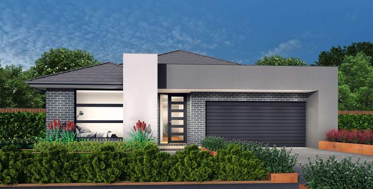 Rhapsody-Single storey house design-Coast Facade
