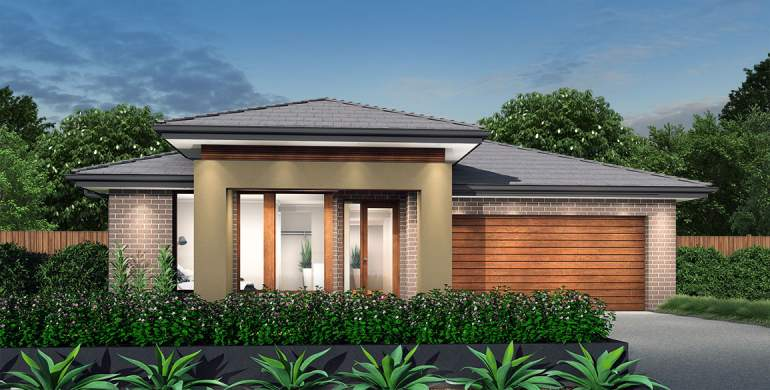 Rhapsody-Single storey house design-Gallerie Facade