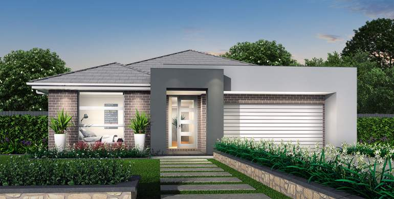 Rhapsody-Single storey house design-Mode Facade
