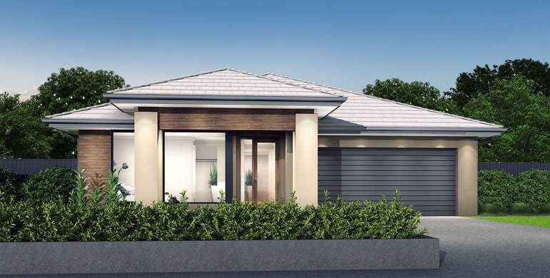 Rhapsody-Single storey house design-Natural Facade