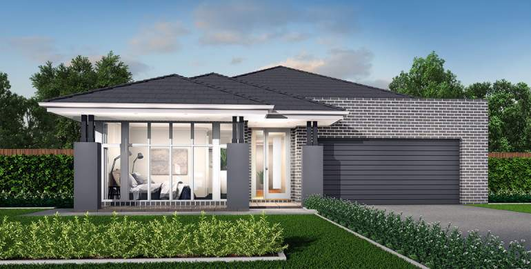 Rhapsody-Single storey house design-Romantic Facade