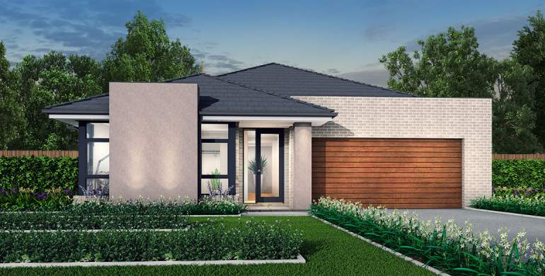 Rhapsody-Single storey house design-Urban Facade