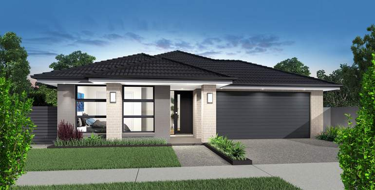 Small Lot-Single storey-Double garage-Accent facade