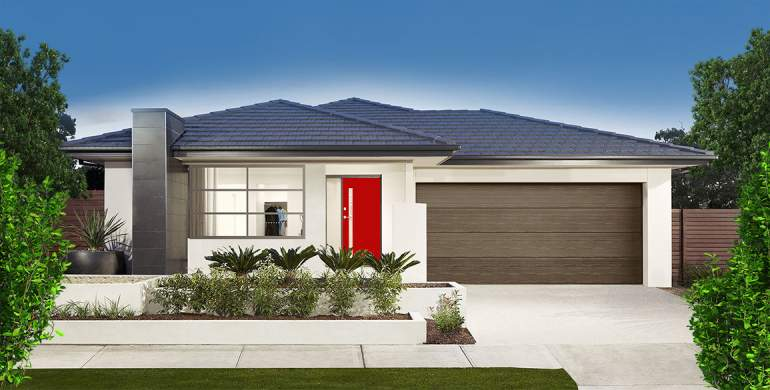 Small Lot-Single storey-Double garage-Brava facade