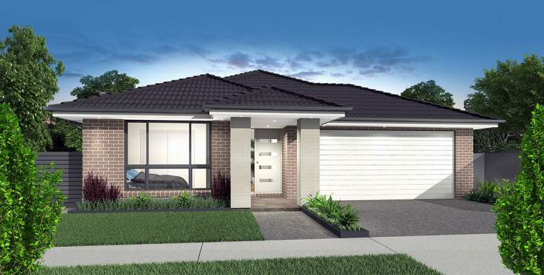 Small Lot-Single storey-Double garage-Modern facade