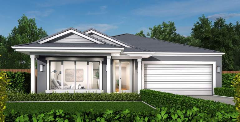 Small lot-Single storey-Double garage-South Hampton Facade