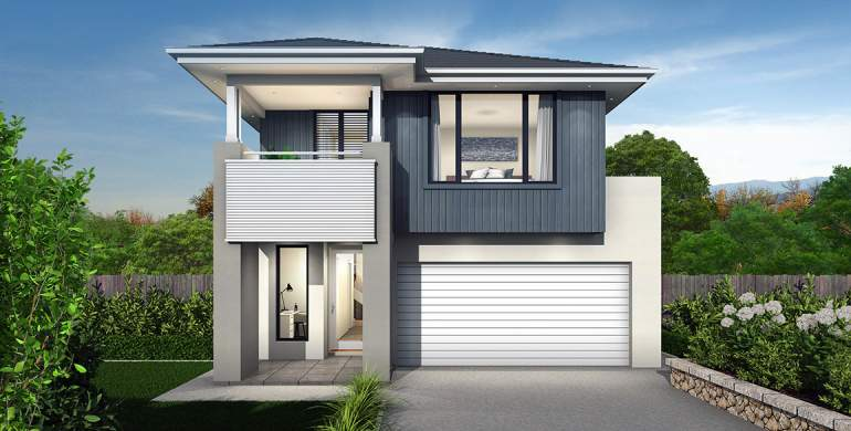 Tivoli Double Storey House Design-Coastal Facade