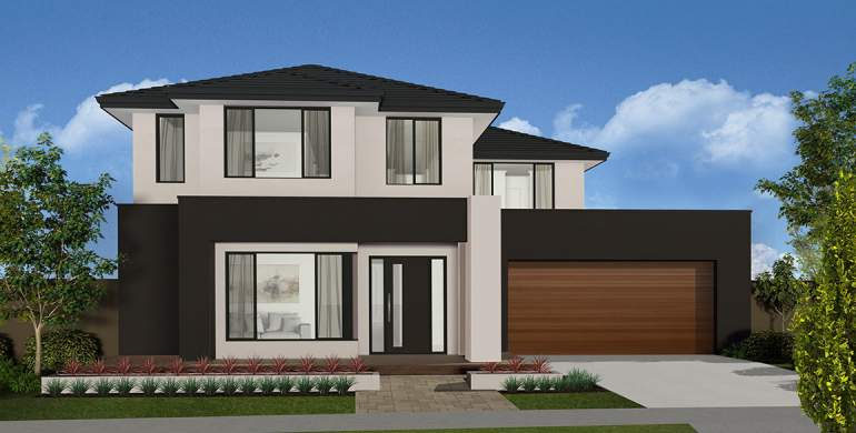 Toorak Double Storey House Design-Mode Facade
