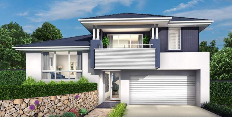 Trilogy Double Storey House Design-Coastal Facade