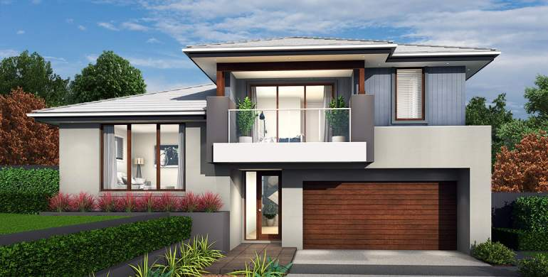 Trilogy Double Storey House Design-Grande Facade