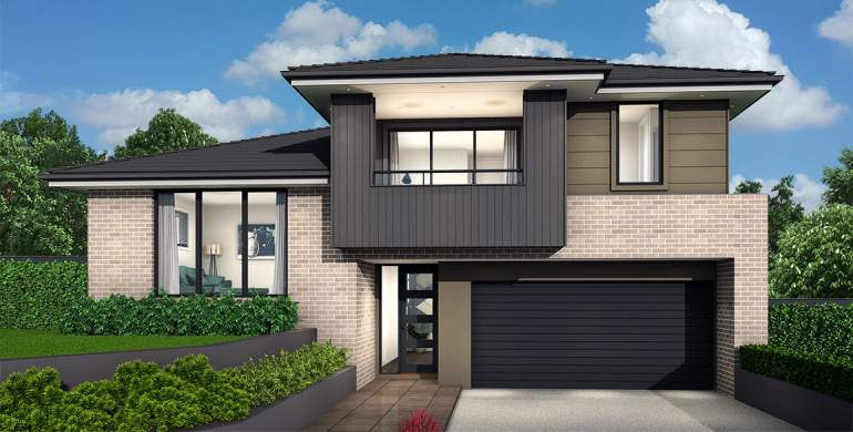 Trilogy Double Storey House Design-Modern Facade