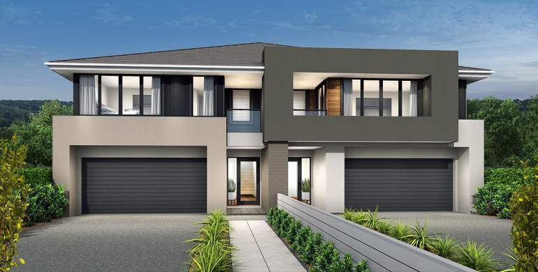 Ultimo Duplex Home Design- Contemporary Facade