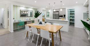 Rumba 24-Single Storey house design-Dining Kitchen