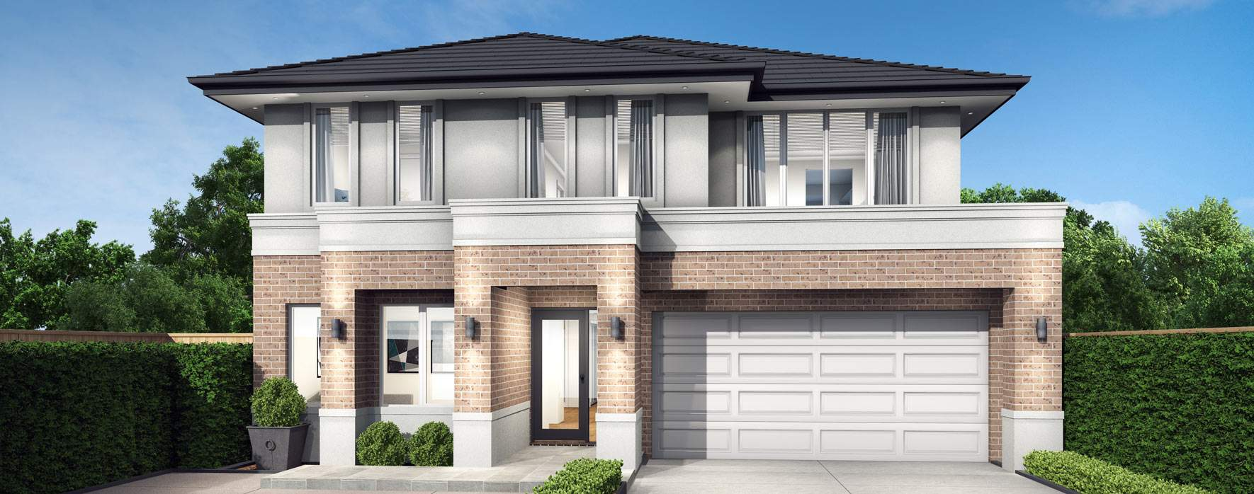 Clovelly 27-Double Storey Home Design- Essence facade
