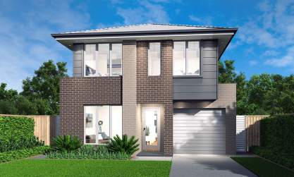 Avoca Double Storey House Design-Newport Facade