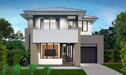 Encore Double Storey House Design-Coastal Facade