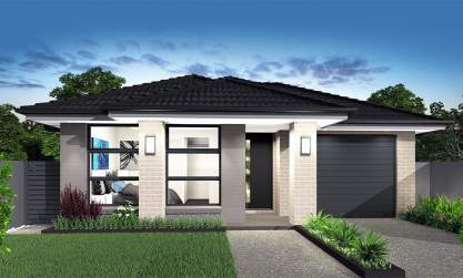 Narrow Lot Home Design-Accent Facade
