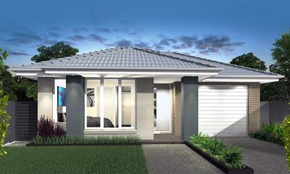 Narrow Lot Home Design-Allegro Facade