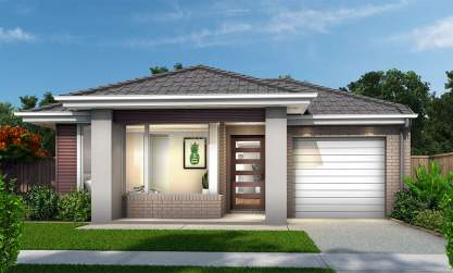 Narrow Lot- Single Storey Home Design - Swift Facade