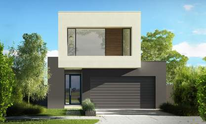 Neo Double Storey House Design-Luxe Facade