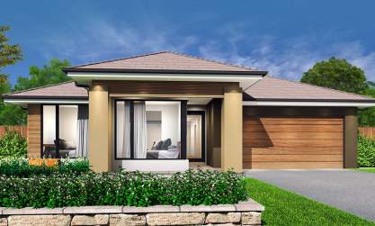 Oasis-Single storey house design-Natural facade