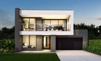 Seabreeze Double Storey House Design-Edge Facade
