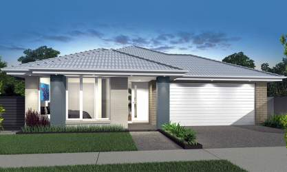 Small lot-Single Storey-Double Garage-Allegro Facade