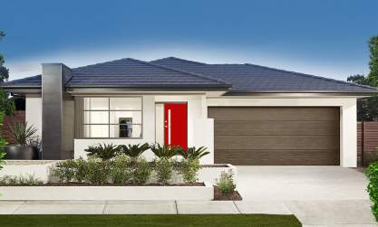 Airlie-Single storey-Double garage-Brava facade