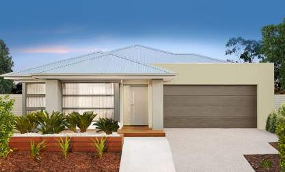 Small Lot-Single storey-Double garage-Canvas facade