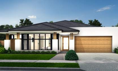 Symphony-Single storey house design-Romantic facade