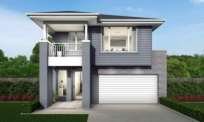 Tivoli Double Storey House Design-Coastal Hamptons Facade