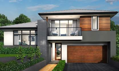 Trilogy Double Storey House Design-Contemporary Facade