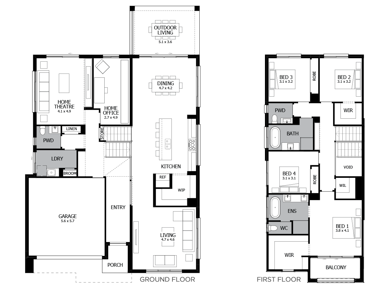 Trilogy 35-Tri-Level House Design-4 Bedroom