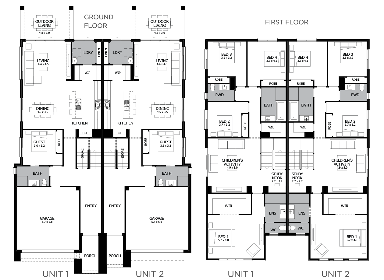 Ultimo-Duplex house plan