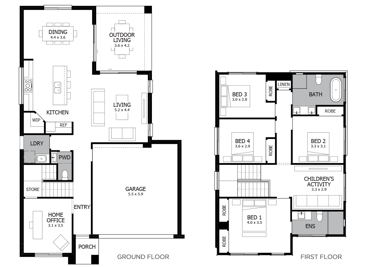 Zumba 26-Double Storey House Design-4 Bedroom